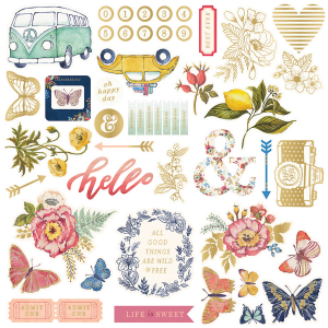 WE R - Wildflower - ephemera - die cuts 50 szt.