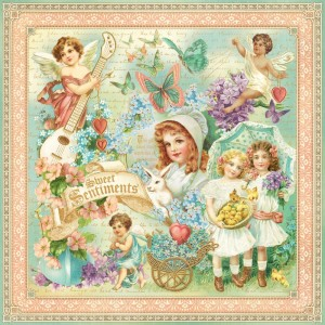 Graphic 45 - Sweet Sentiments Collection - Sweet Sentiments