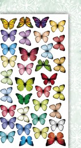 2 za 1 AltairArt - Foggy Dew - Butterflies/Wearing green - motyle