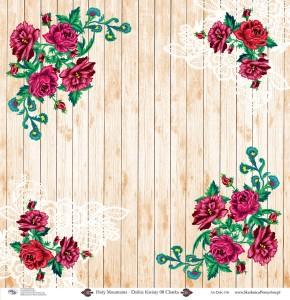 AltairArt - Holy Mountains - Dzikie kwiaty 08 Chatka - papier jednostronny   - motywy góralskie