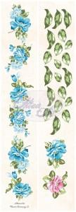 AltairArt - Flower Harmony - pasek 12 5x31,5 cm kwiaty i liście