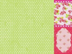 Kaisercraft - Tea Party 12x12 Scrapbook Paper Peppermint