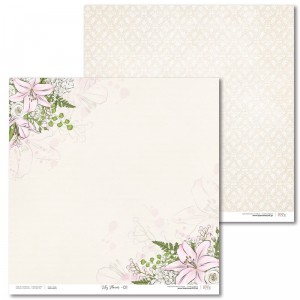 Laserowe Love - Papier do scrapbookingu 30,5 x 31,5 cm  - Lily Flower 01