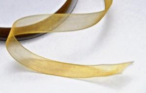 Wstążka szyfonowa 8009 złota 12mm, 1 m