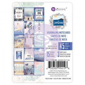Prima Marketing - Santorini - Karty journalowe 3x4