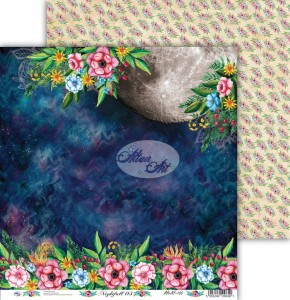 AltairArt - Nightfall 05  Dwustronny papier do scrapbookingu