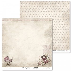 Laserowe Love - Papier do scrapbookingu 30,5 x 31,5 cm  - Vintage Baby Girl 03