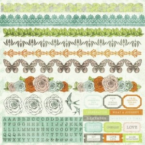 Honey Chai 12x12 Sticker Sheet