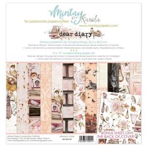 Mintay Papers - Dear Diary zestaw papierów 30x30