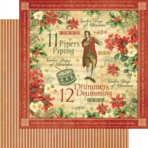 Graphic 45 - Twelve Days of Christmas Collection - Drummers Drumming
