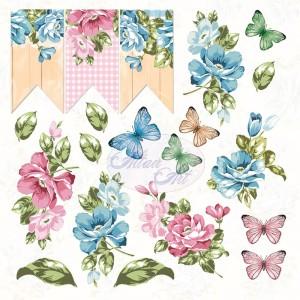 AltairArt - Flower Harmony  elementy do wycinania 15 cm x 15 cm