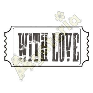 "Agateria - Stempel - ETYKIETA "" WITH LOVE"""