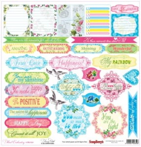 ScrapBerry's -  Floral Embroidery, Fancy Cloth