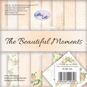 AltairArt - The Beautiful Moments zestaw papierów do scrapbookingu 15 cm x 15 cm