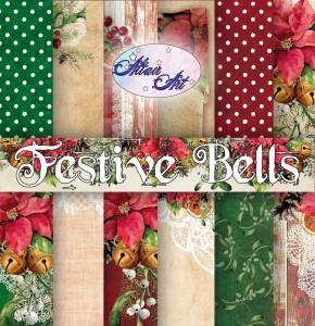 AltairArt - Festive Bells - zestaw  papierów do scrapbookingu