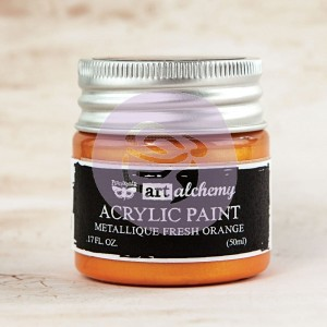 Art Alchemy Finnabair - Akrylowa Metaliczna Farba - Fresh Orange