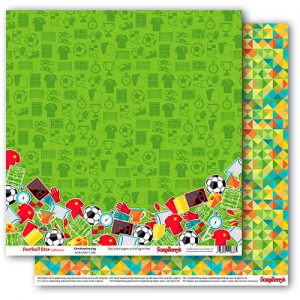 ScrapBerry's - dwustronny papier do scrapbookingu Football Star - Combination Play
