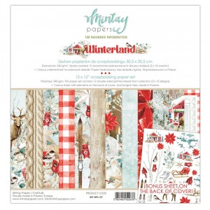 Mintay Papers - WINTERLAND  zestaw 30x30