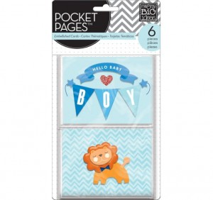 POCKET PAGES™ EMBELLISHED CARDS - BABY BOY