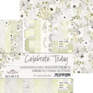 Craft O'Clock - zestaw papierów 15x15 - Celebrate Today