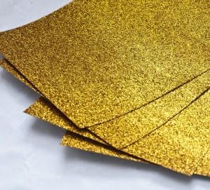 Papier brokatowy ciemnozłoty 8 cm x 30 cm