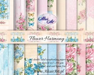 AltairArt - Flower Harmony - Collection Kit - zestaw papierów powiększony