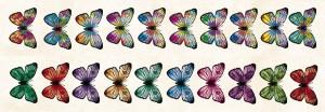 AltairArt - Sunrise - pasek z tęczowymi motylami