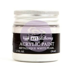 Art Alchemy Finnabair - Akrylowa Metaliczna Farba - White Pearl