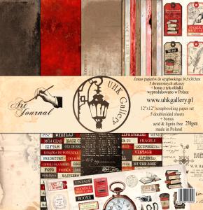 UHK Gallery Art Journal - zestaw papierów do scrapbookingu