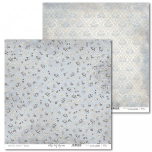 Laserowe Love - Papier do scrapbookingu 30,5 x 31,5 cm  - Vintage Baby Boy 02
