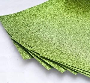 Papier brokatowy jasnozielony 24 cm x 35 cm