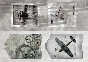 AltairArt - Tears in Rain - pasek z tagami 5x15 cm