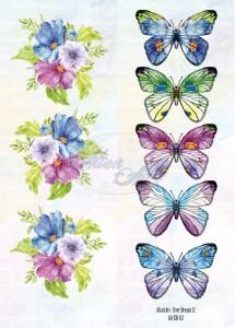 AltairArt - Dwustronny papier do scrapbookingu Ever Dream 12 pasek motyle