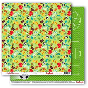 ScrapBerry's - dwustronny papier do scrapbookingu Football Star - on the Pitch