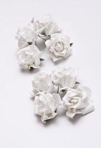 Papierowe róże kremowe  vintage 3,5 cm