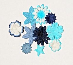 Zestaw kwiatów mini niebieskich GM23