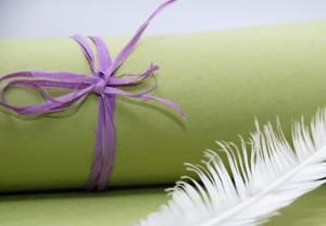 Papier czerpany zielony  A4, 260 gsm, 1 arkusz