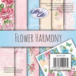 AltairArt - Flower Harmony - bloczek 15 cm x 15 cm