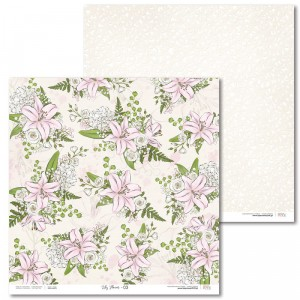 Laserowe Love - Papier do scrapbookingu 30,5 x 31,5 cm  - Lily Flower 03