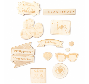 Shimelle - Wood Veneer Shapes (12 Piece)