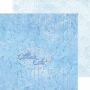 Dwustronny papier do scrapbookingu Blue Rose 02 15 cm x 15 cm