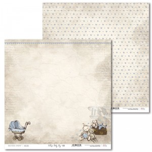 Laserowe Love - Papier do scrapbookingu 30,5 x 31,5 cm  - Vintage Baby Boy 03