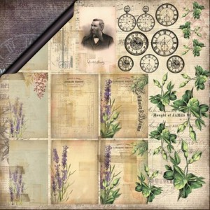 13arts - dwustronny papier do scrapbookingu - Vintage Moments, In the Past by Olga Heldwein