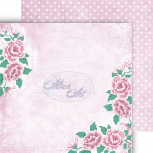 Dwustronny papier do scrapbookingu Blue Rose 01 15 cm x 15 cm