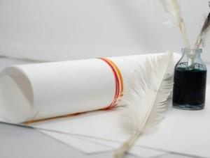 Papier czerpany biały A4, 150 gsm, 1 arkusz