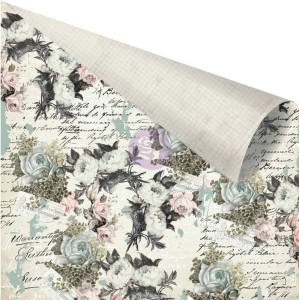 PrimaMarketing dwustronny papier do scrapbookingu 30,5 x31,5 cm Vintage Floral - The Good News