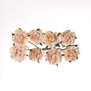 Kwiaty papierowe - róże, karbowane brzoskwiniowe