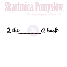 "Love Clippings Words Cling Stamp ""2 the... and back"""