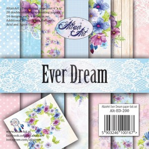 AltairArt - Ever Dream zestaw papierów do scrapbookingu 15 cm x 15 cm