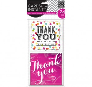POCKET PAGES™ Cards Instant Thank You So Very Much